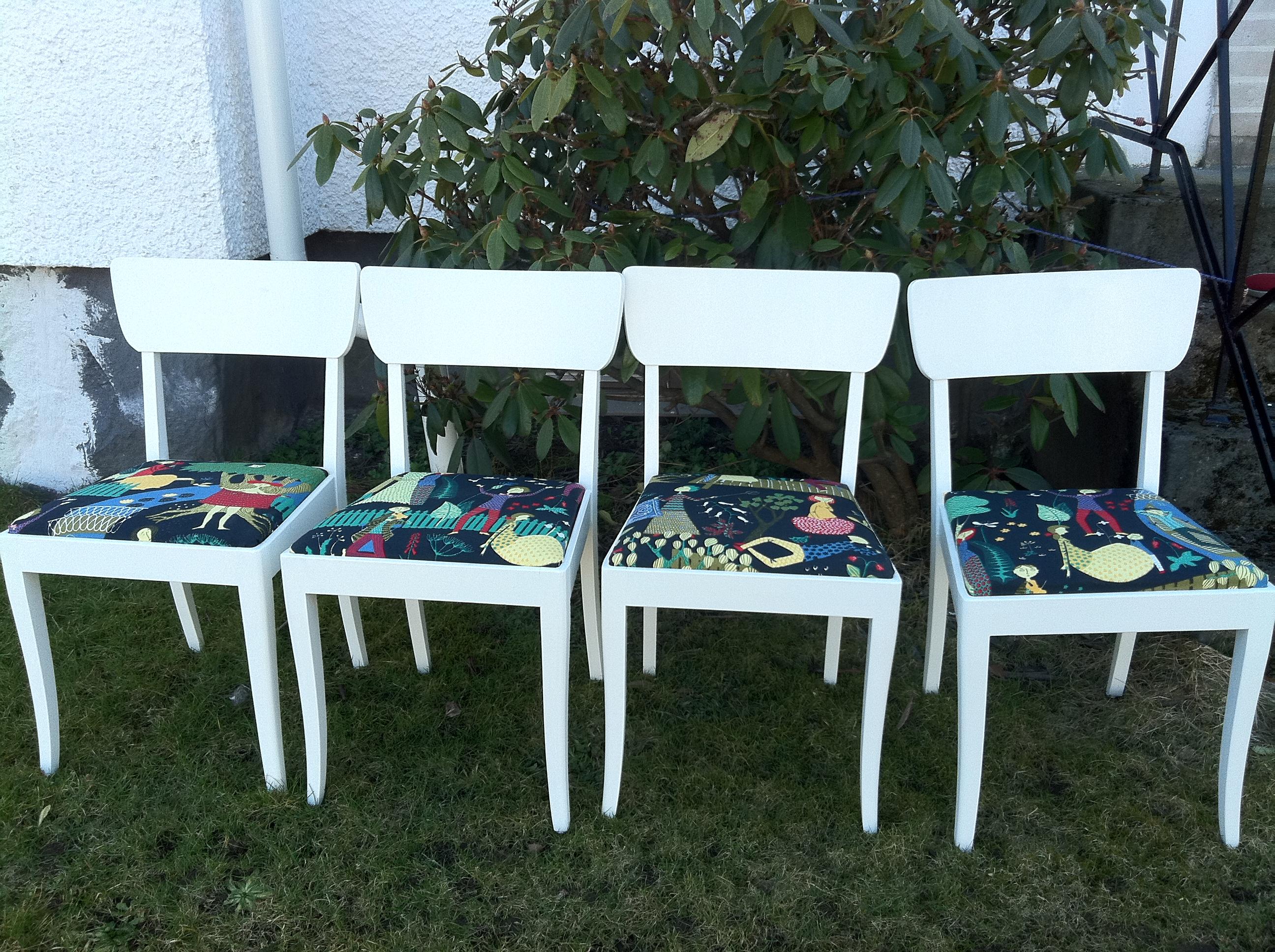 Avslutade Projekt Vita K 246 Ksstolar Pimpinellate Upholstery