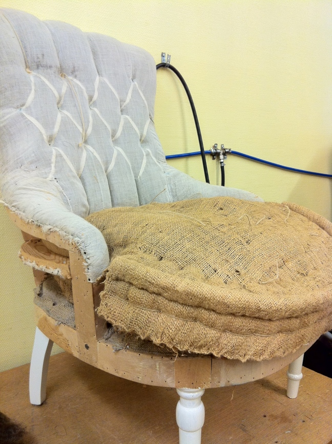 I've already upholstered one Emma chair - one more to do.